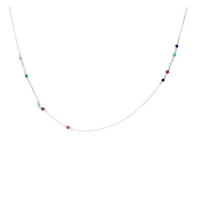COLLIER CHAINE MIX COULEURS
