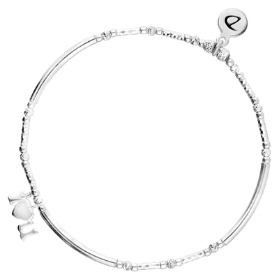 "BRACELET ÉLASTIQUE ""I LOVE YOU"" TUBES LISSES ET DIAMANTES"