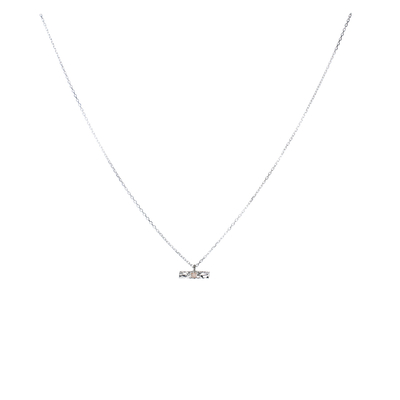 COLLIER RECTANGLE MARTELÉ ET PIERRE DE LUNE