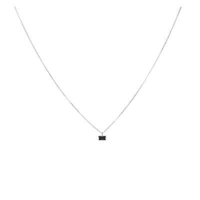 COLLIER PIERRE RECTANGLE NOIRE