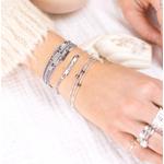 BRMSG-SWARO-BR8506GFG-BR8384-3TGR-bracelet muli tours, bracelet élastique tris rangs et bracelet mamie damour