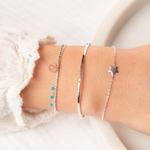 MA4606.BR7766PE.BR7723-15,5 - bracelets fns en argent 925 et manchette réglable