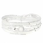 BR7868BLOP - bracelet multi-tours pierre opaline carrée