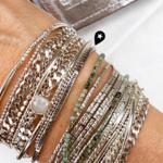 manchette Doriane composition de bracelets en argent