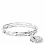 BG8406-54-bague 3 anneaux ciselés et pendentif ange