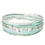BR7868VEA - bracelet pierre naturelle amazonite cordons turquoise