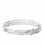 BG4127-56 - bague 3 anneaux ciselés en argent 925