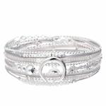 BR7518GGGC - bracelet multi-tours pendentif croissant de lune cordons gris
