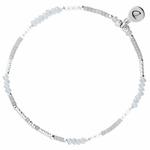 BR7663GCGCM - Bracelet élastique en argent et perles grises