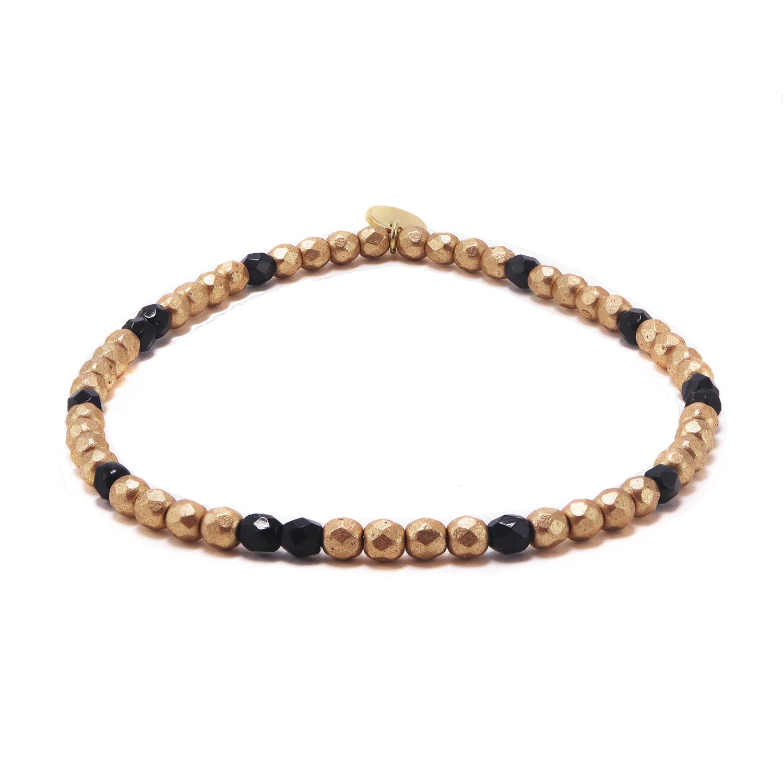Bracelet-03127-perle-tchec-Or-noir