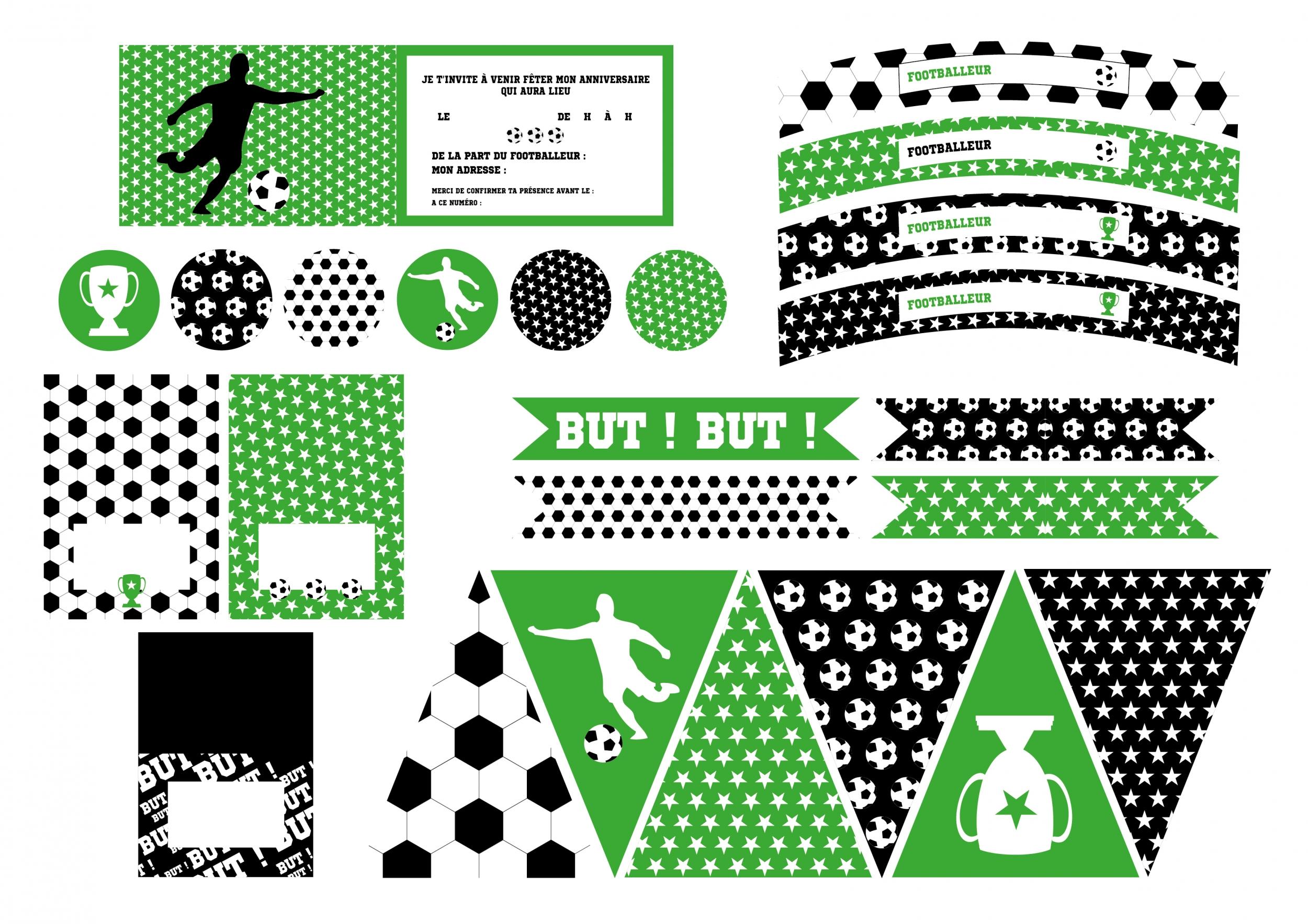Häufig Printable anniversaire foot décoration à imprimer - Achat / Vente AZ31