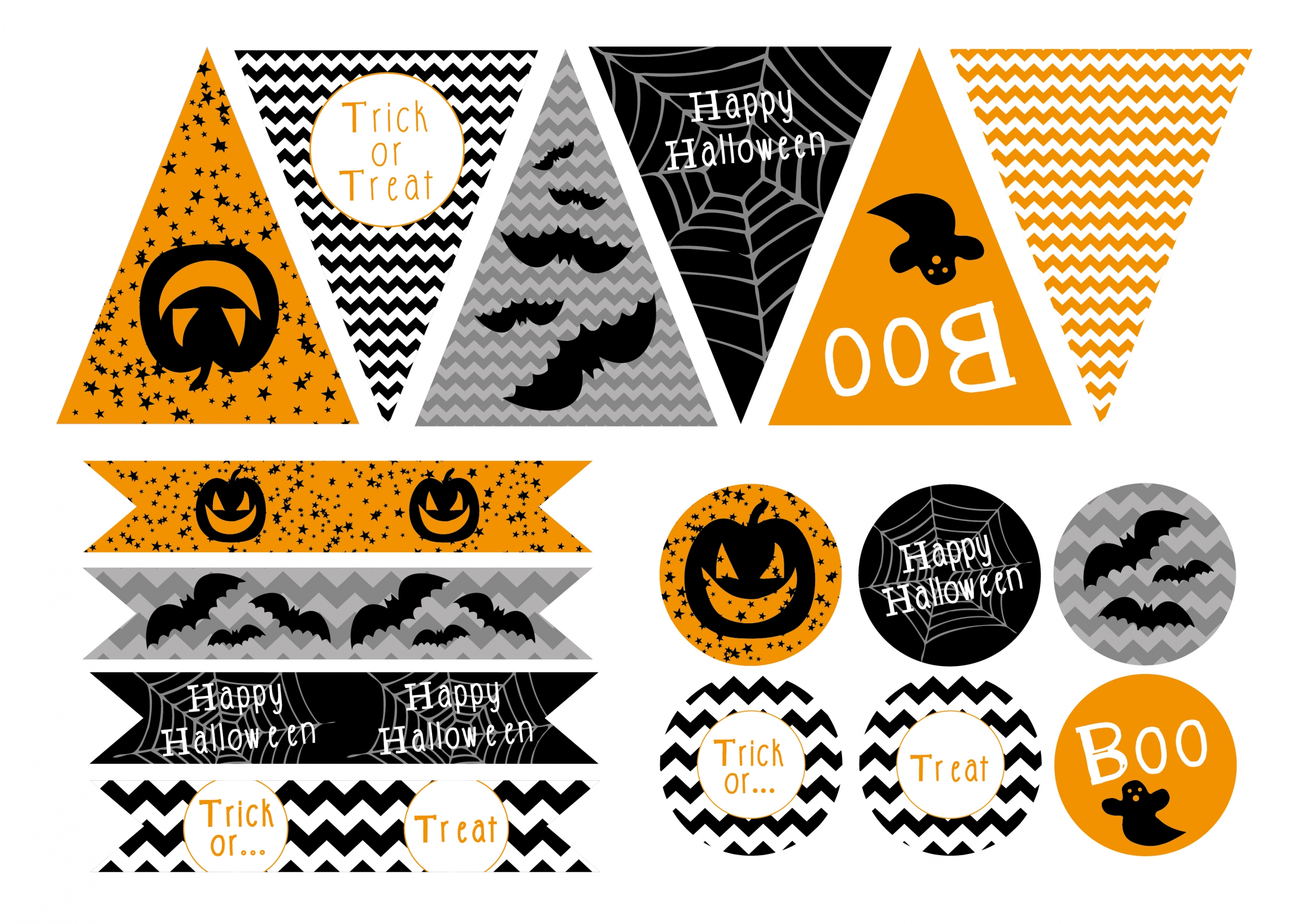 D co halloween a faire soi meme printable gratuit a imprimer - Faire deco halloween ...