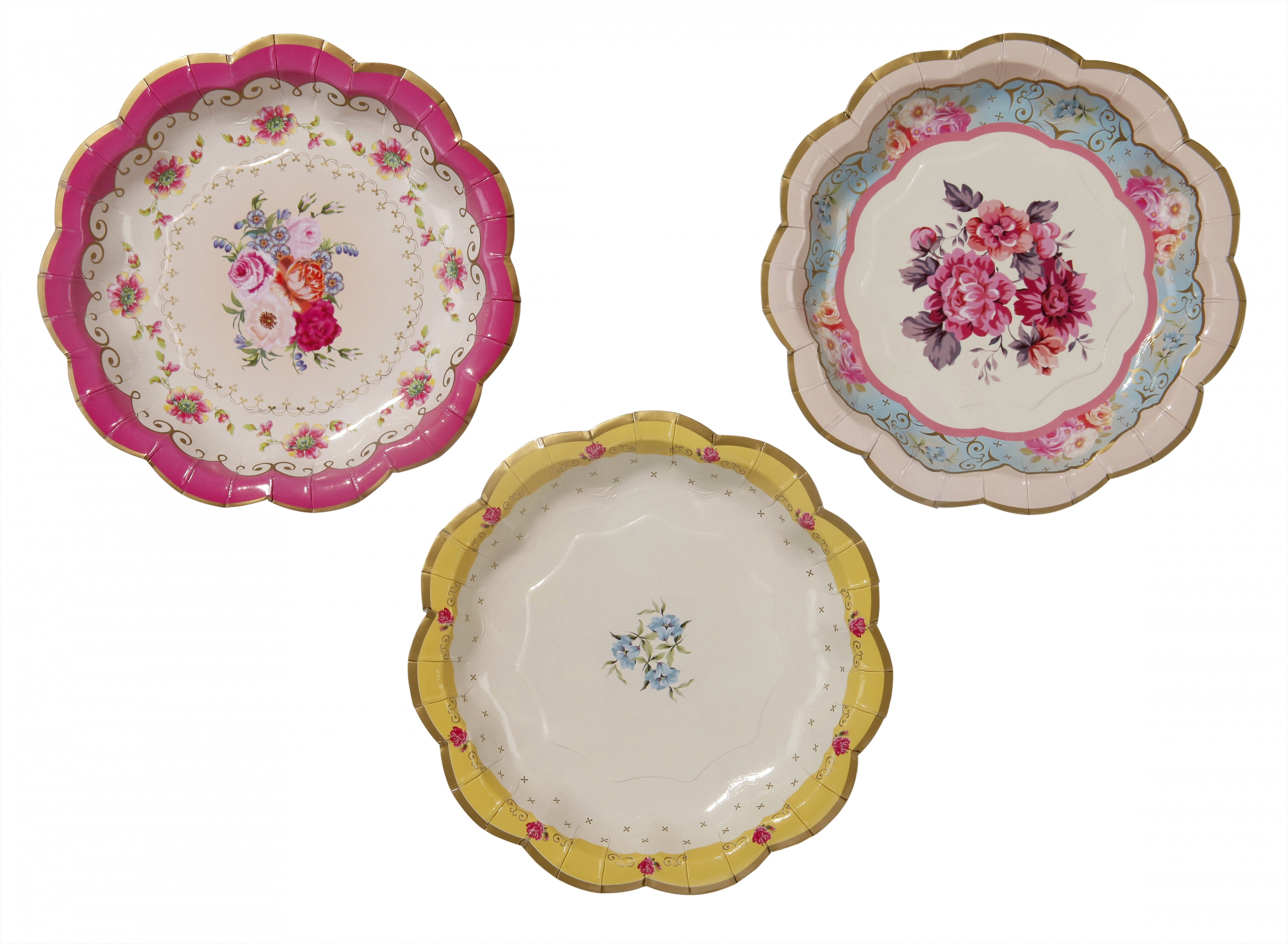 12 assiettes carton porcelaine vintage