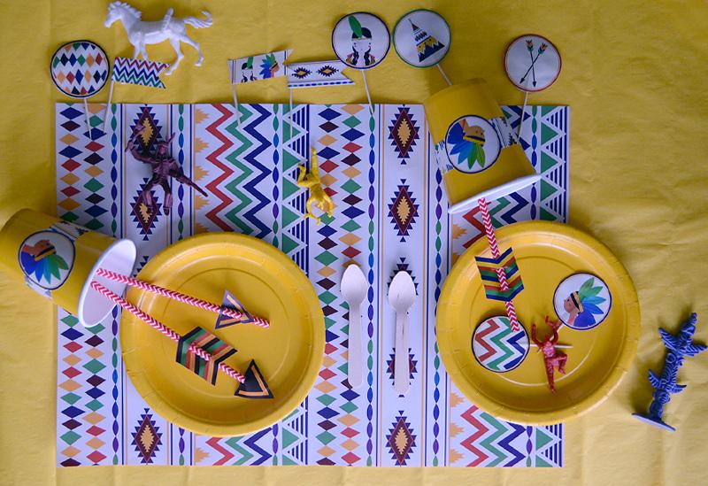 Kit Anniversaire Theme Indien Deco Carte Invitation Jeux Minireyve
