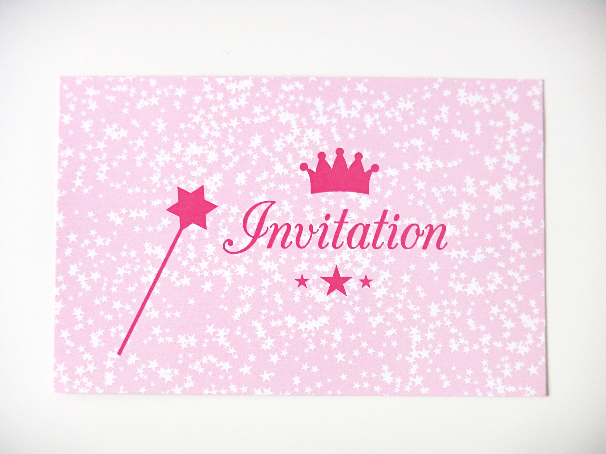 cartes d 39 invitation anniversaire princesse papeterie. Black Bedroom Furniture Sets. Home Design Ideas