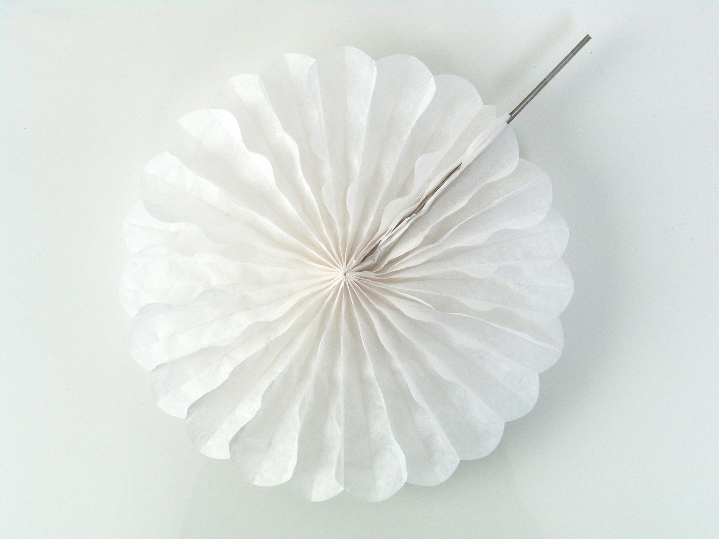 2 rosaces en papier 25 cm