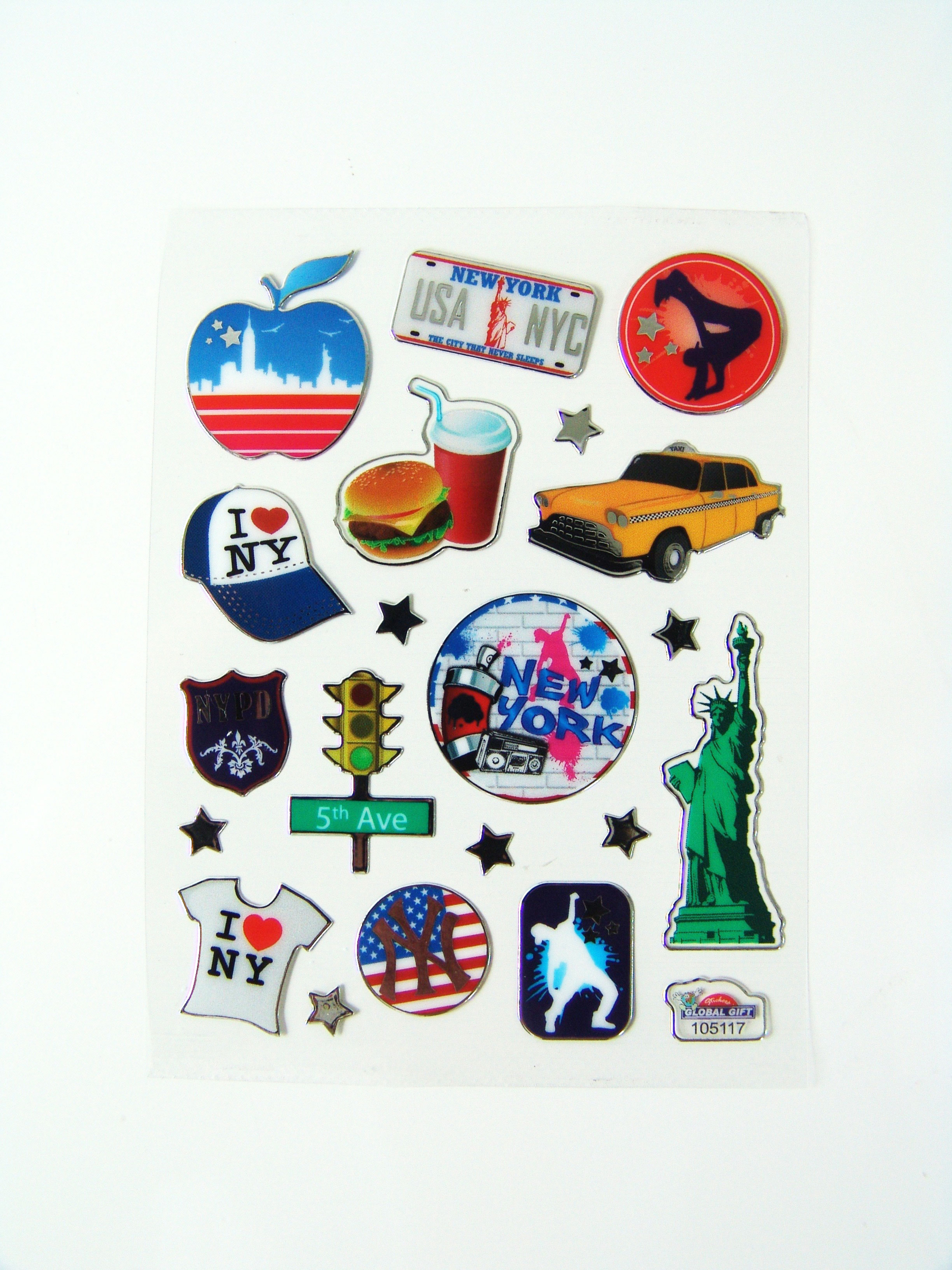 Stickers new york autocollant pas cher achat vente for Autocollant mural new york