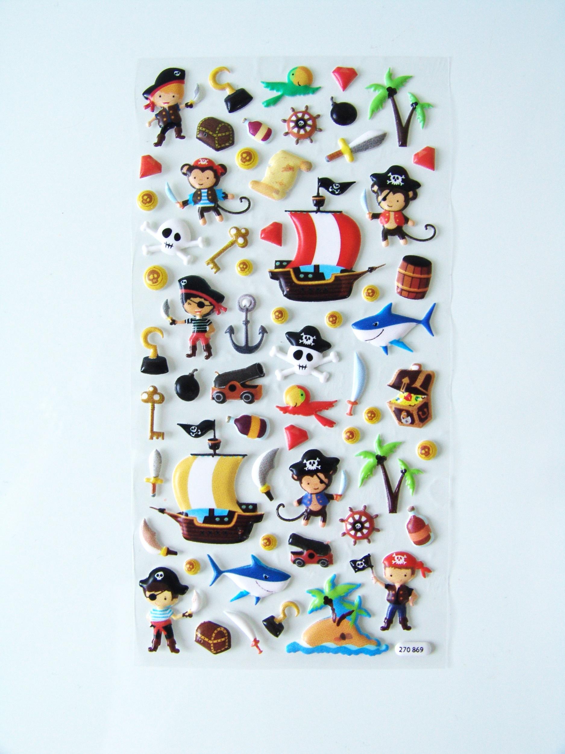 stickers pirate autocollant 3d pour enfant achat vente. Black Bedroom Furniture Sets. Home Design Ideas