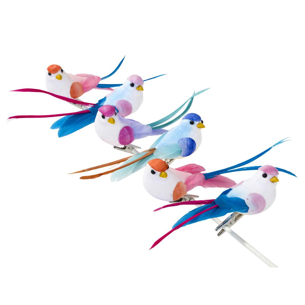 Figurine oiseau tropical d coratif pour table de f te for Oiseaux artificiels de decoration