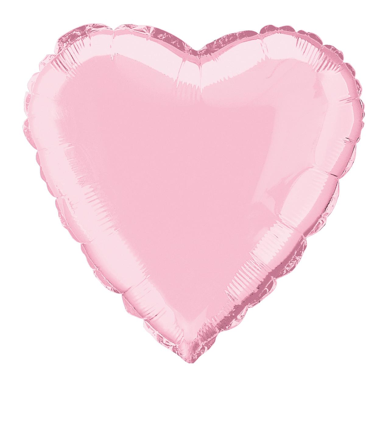 Ballon aluminium coeur rose