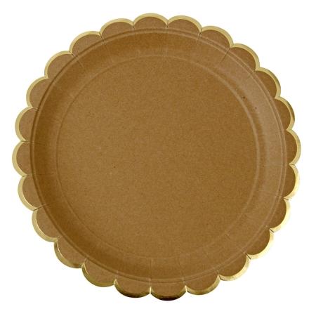 8 assiettes carton jetables kraft