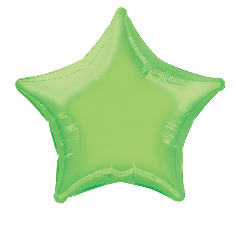 Ballon aluminium étoile vert