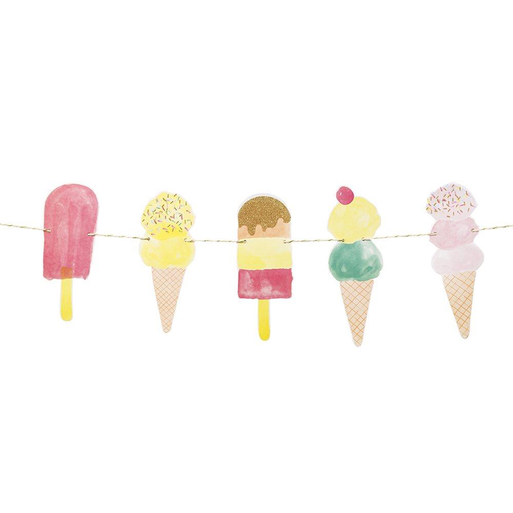 guirlande glace pastel anniversaire ice cream achat vente. Black Bedroom Furniture Sets. Home Design Ideas