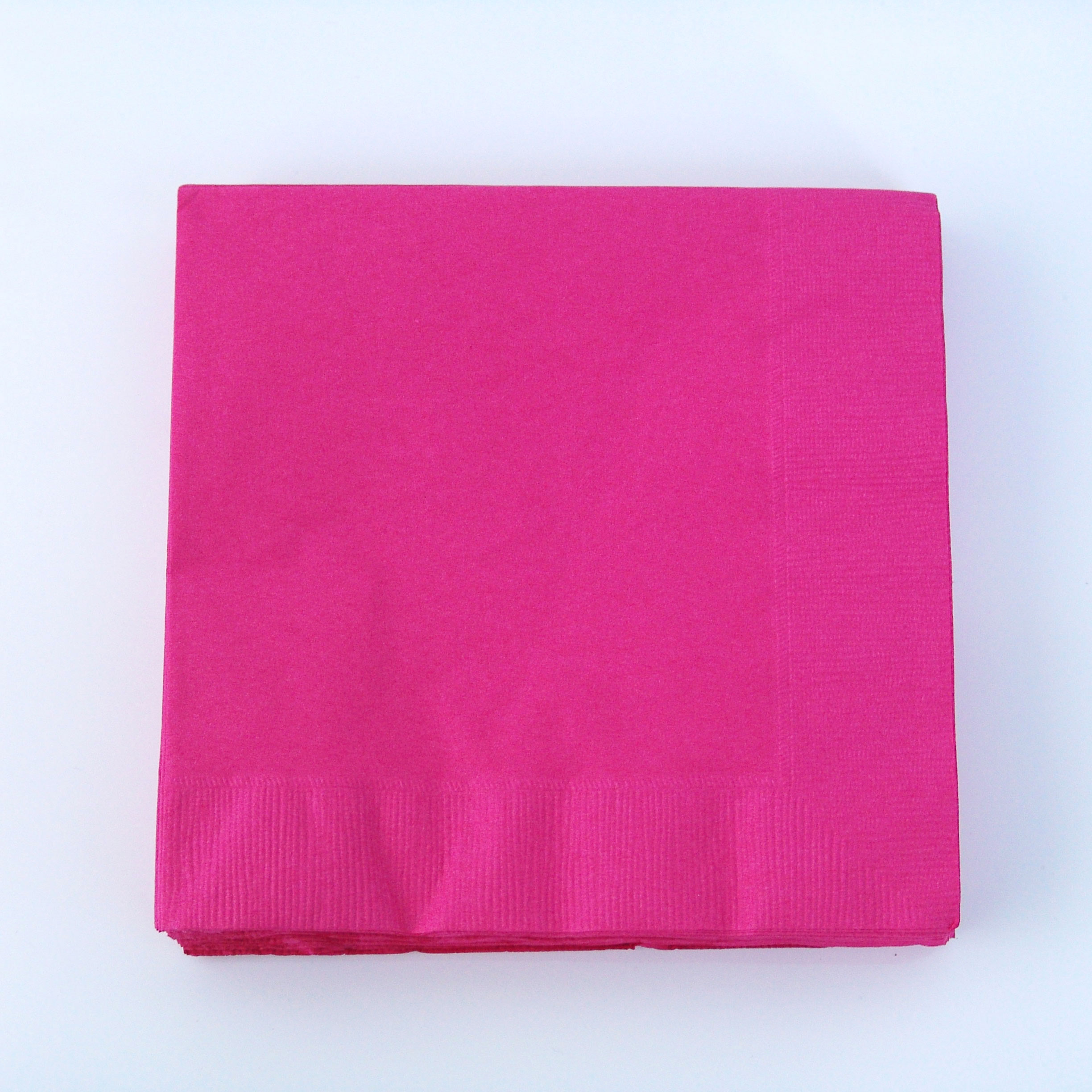 serviette-papier-jetable-rose-fuchsia