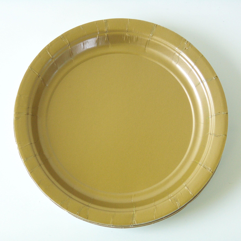 8 assiettes dessert dorées