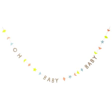 Guirlande lettre baby shower pastel meri meri sweet party day - Guirlande baby shower ...