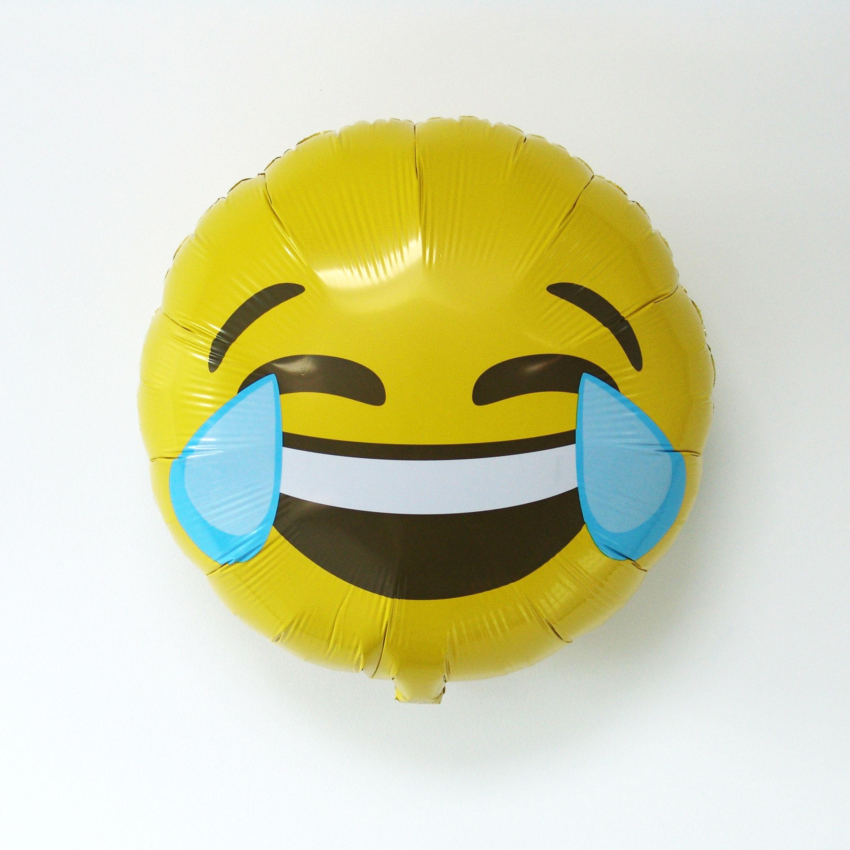 Ballon emoji qui pleure de rire