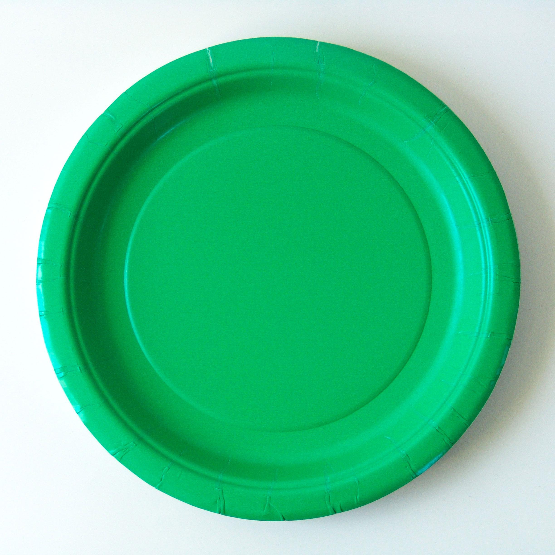 8 assiettes dessert carton vert émeraude