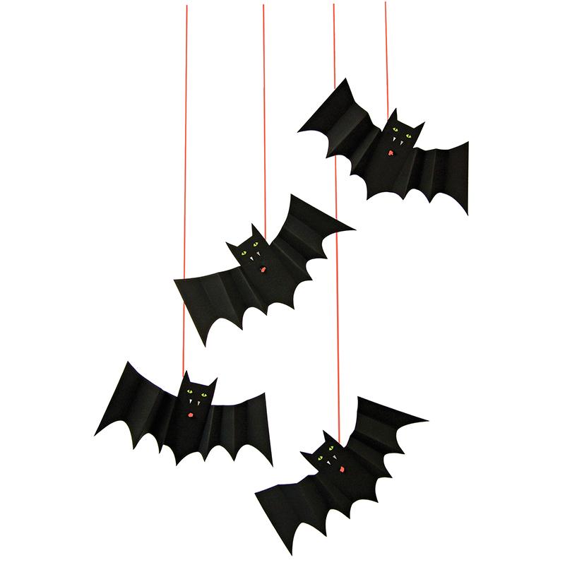 chauve souris d 39 halloween suspendre meri meri achat vente. Black Bedroom Furniture Sets. Home Design Ideas