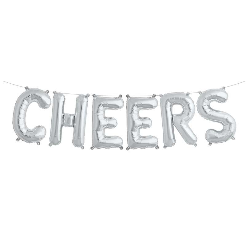 Ballon aluminium lettres Cheers
