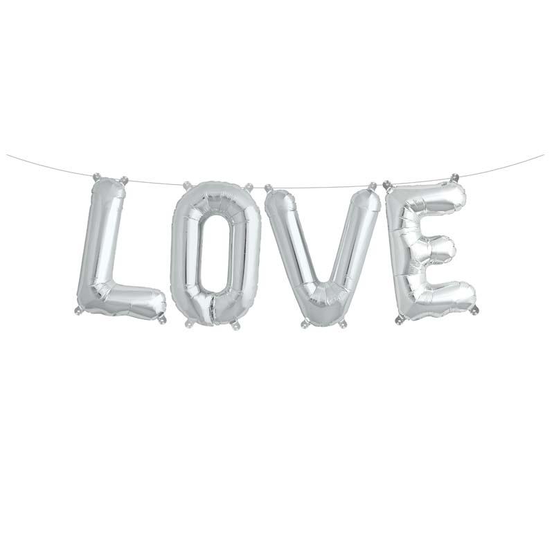 Ballon aluminium lettre LOVE