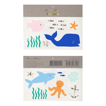 2 planches de tatouages sous la mer