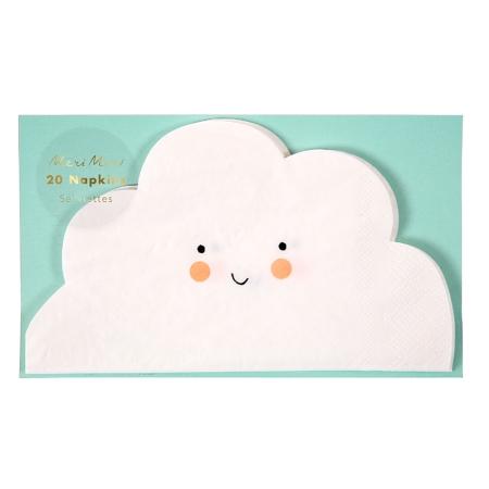 20 serviettes nuage en papier