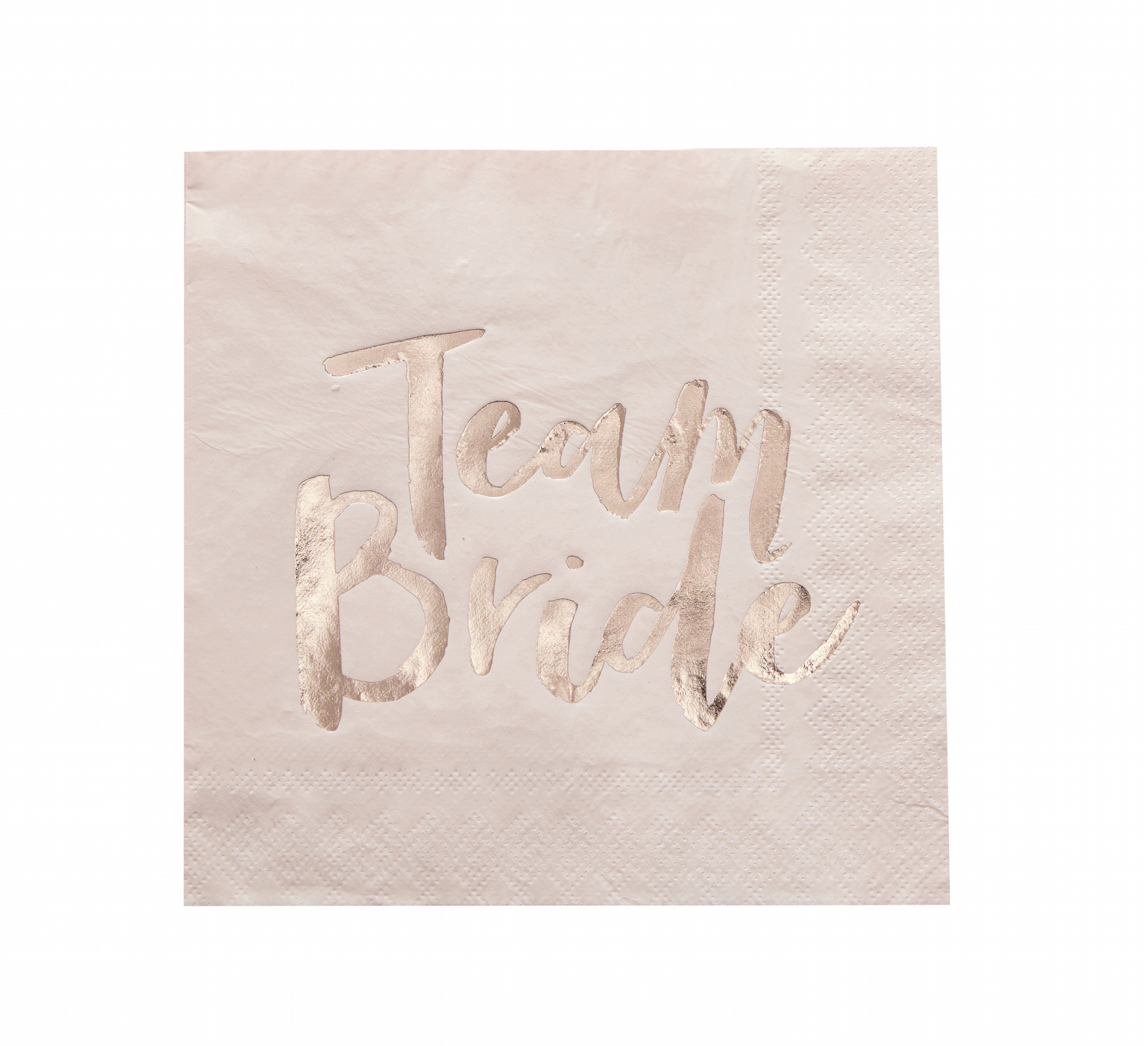 16 serviettes papier Team Bride rose blush