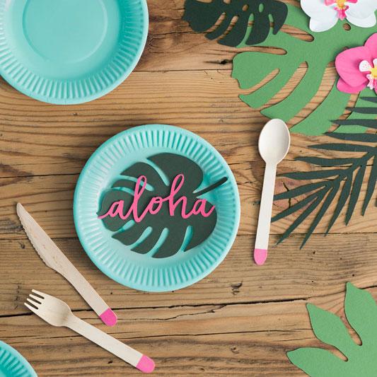 d coration en papier aloha fete anniversaire vaiana sweet party day. Black Bedroom Furniture Sets. Home Design Ideas