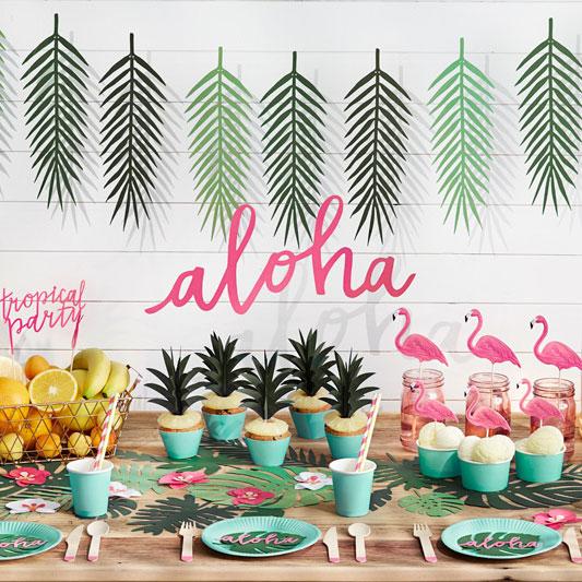 Guirlande en papier Aloha