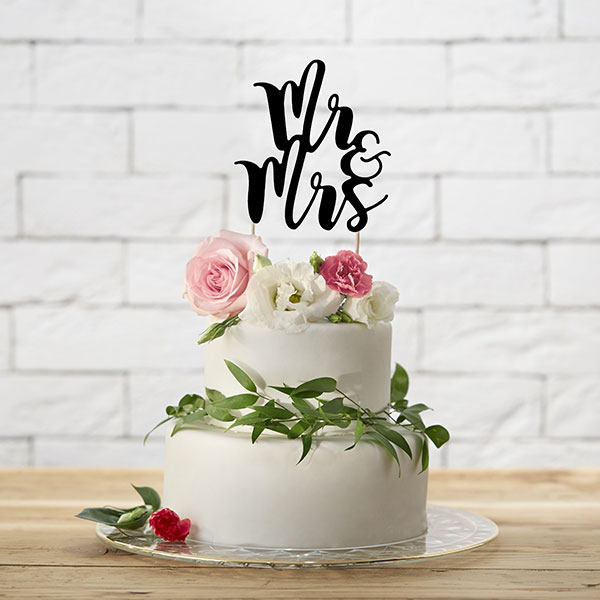 Cake topper mariage Mr and Mrs