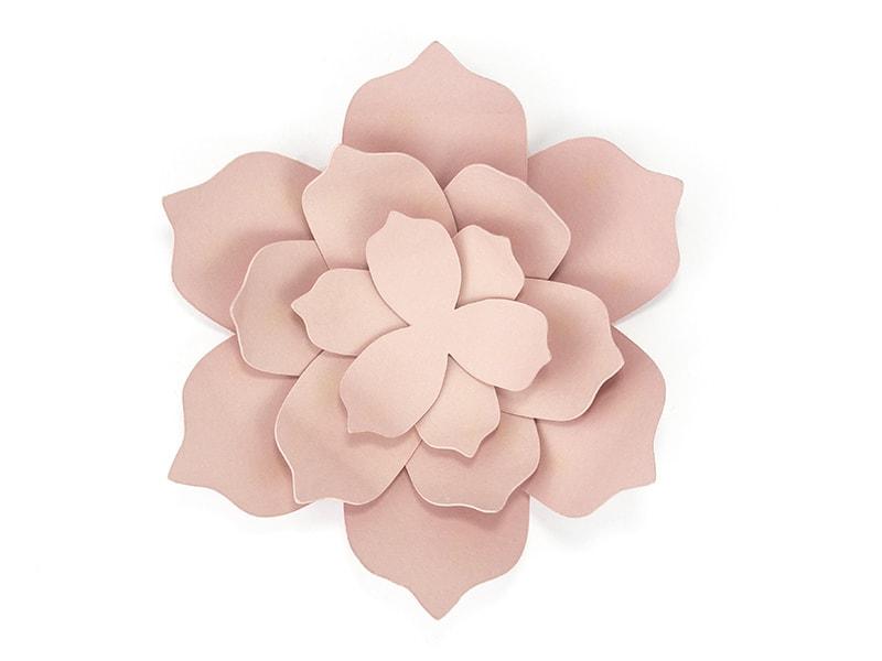 Fleur en papier rose pastel kit diy mariage achat vente - Diy fleur en papier ...
