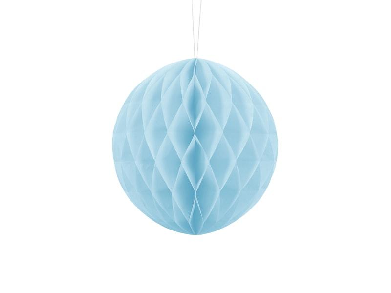 Boule d corative en papier alv ol bleu clair achat vente for Boule de papier deco