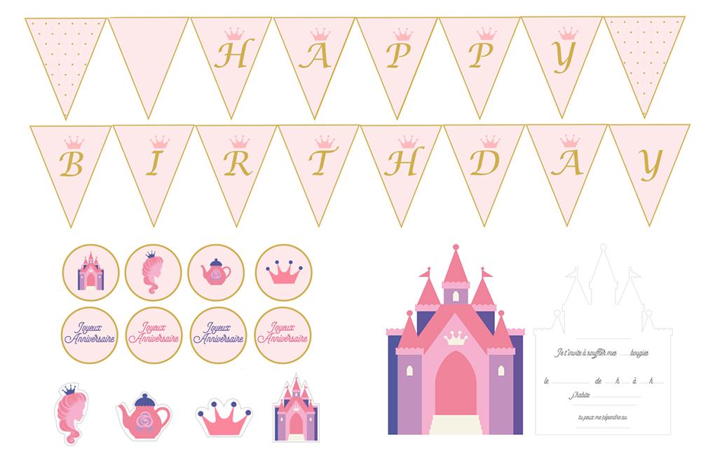 Printable anniversaire princesse