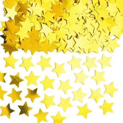 Confettis étoiles dorées