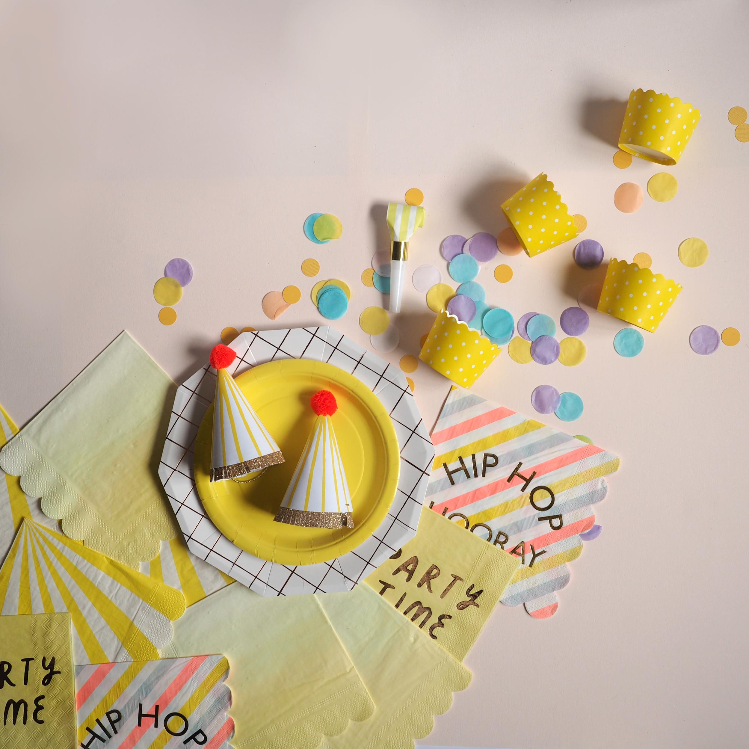 Disco Party Autocollant Étiquettes pour sac de fête Sweet Cônes