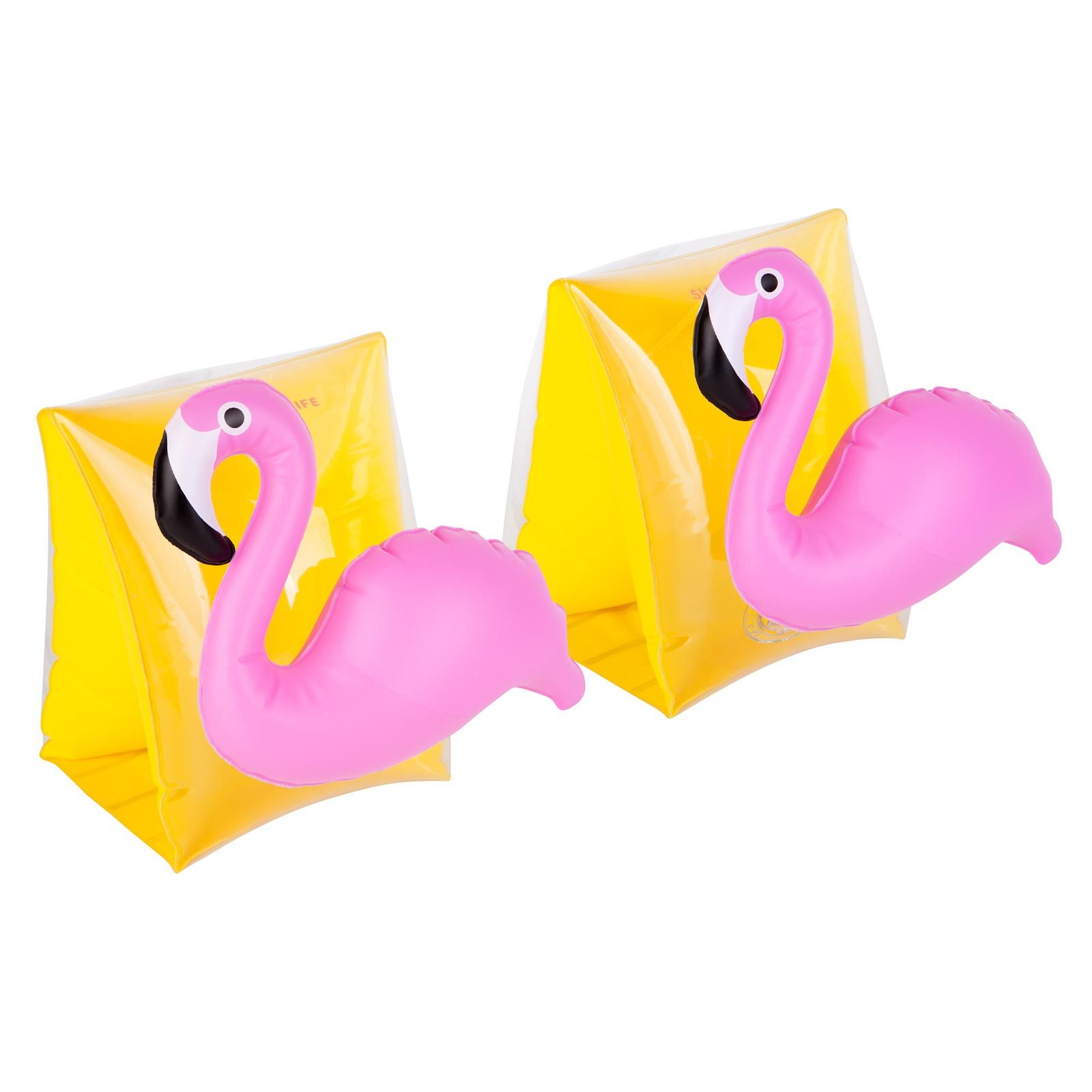 Brassards enfant flamant rose gonflables