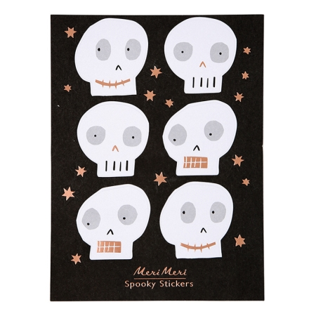 stickers autocollant squelette halloween meri meri - Squelette Halloween