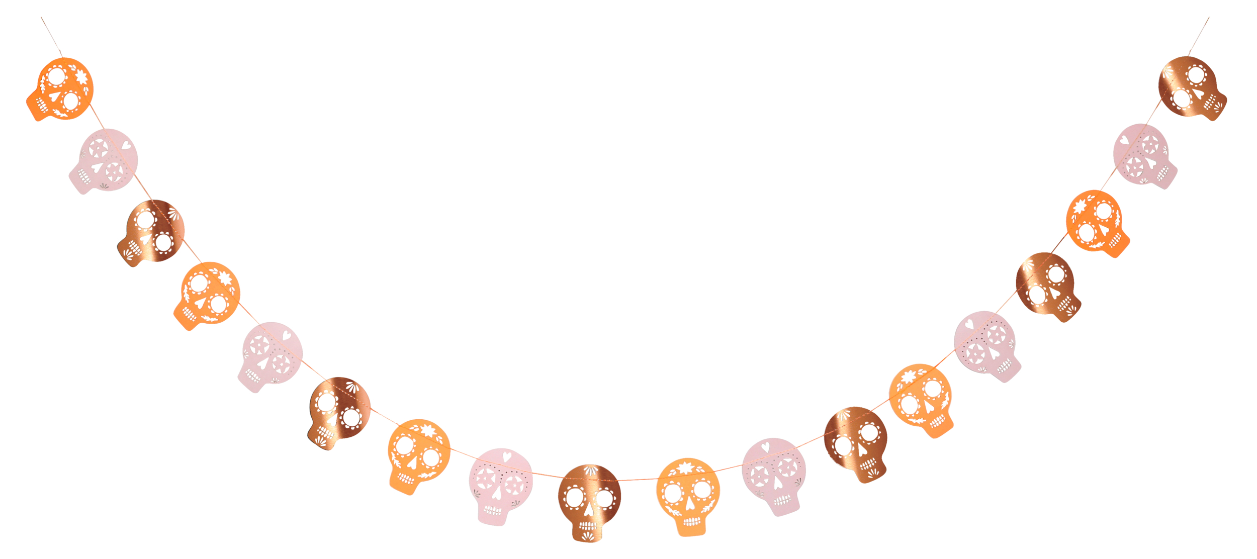 Guirlande Halloween crâne mexicain