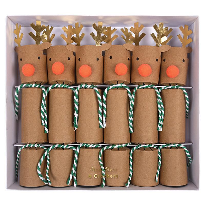 crackers anglais de noel en forme de renne meri meri achat vente. Black Bedroom Furniture Sets. Home Design Ideas
